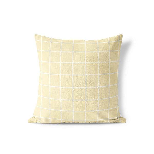 Capa de almofada Quadrados Amarelo bebê