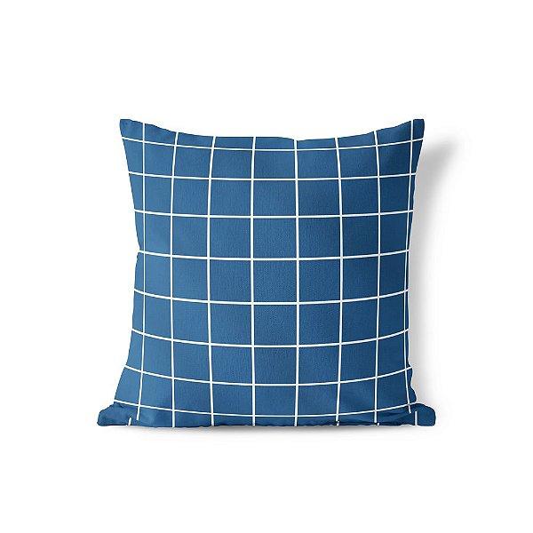Capa de almofada Quadrados Azul Marinho