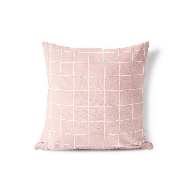 Capa de almofada Quadrados Rosa Quartzo