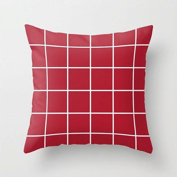 Capa de almofada Quadrados Vermelho