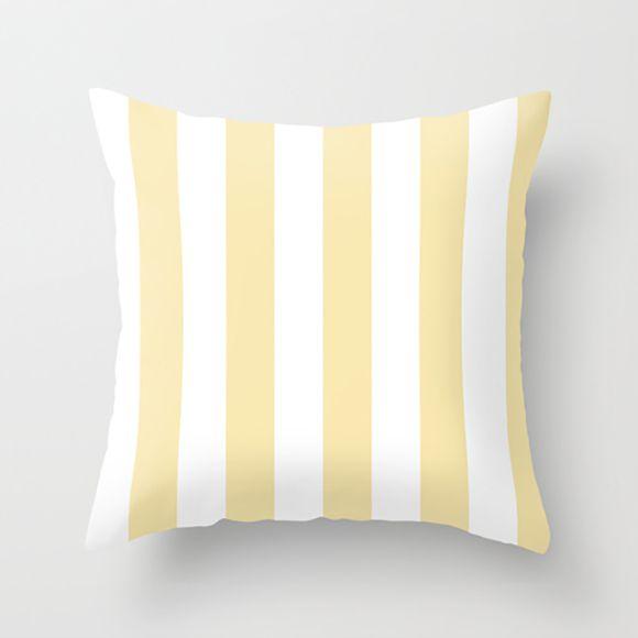 Capa de almofada Listras Amarelo bebê