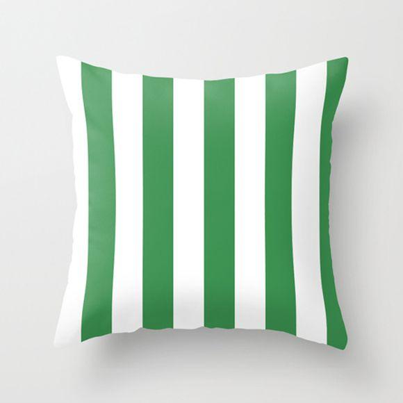 Capa de almofada Listras verde