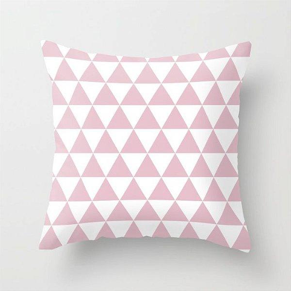 Capa de almofada Triângulos Rosa bebê