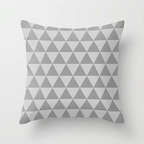 Capa de almofada Triângulos 2 Cinza