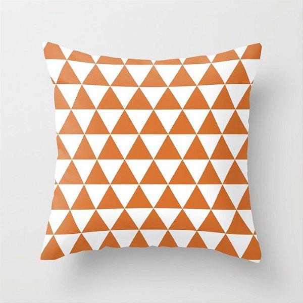 Capa de almofada Triângulos Laranja