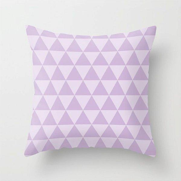 Capa de almofada Triângulos 2 Lilás