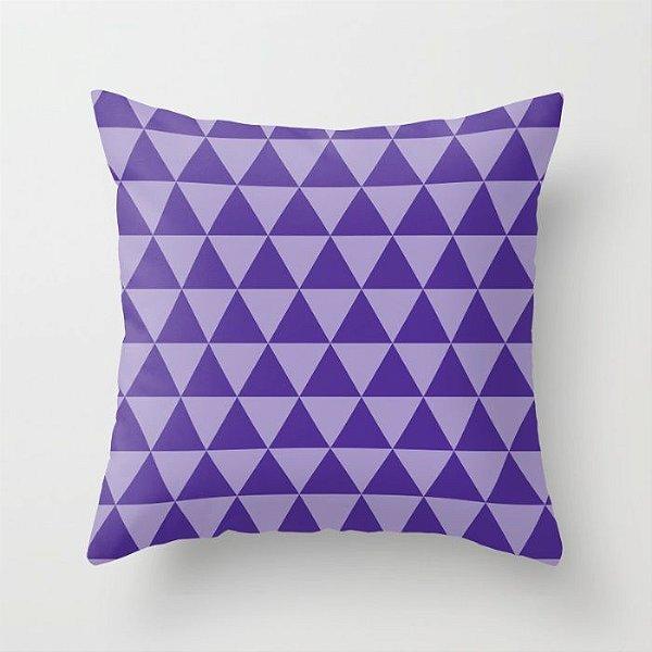 Capa de almofada Triângulos 2 Roxo
