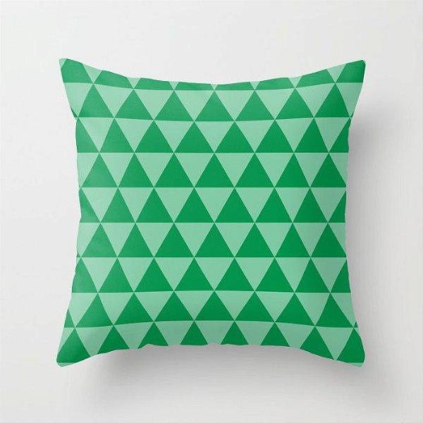 Capa de almofada Triângulos 2 Verde