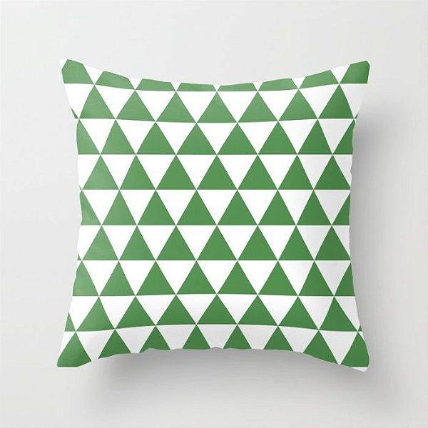 Capa de almofada Triângulos Verde