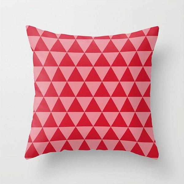 Capa de almofada Triângulos 2 Vermelho