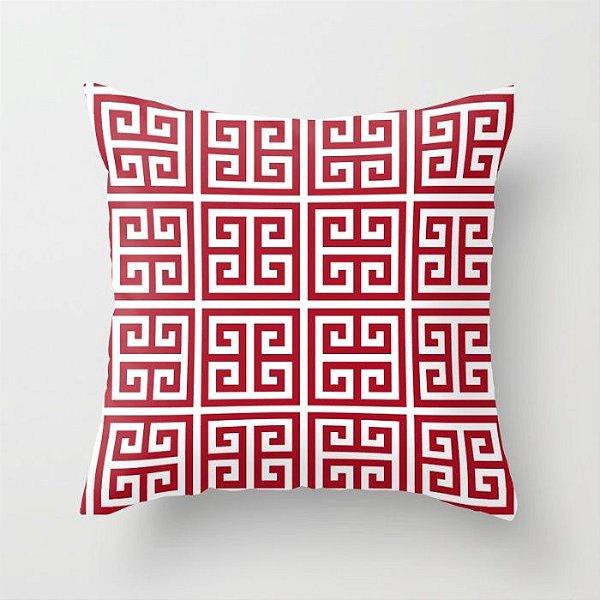 Capa de almofada Greek Vermelho