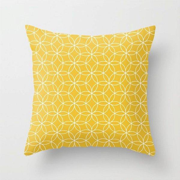 Capa de almofada Lotus Amarelo