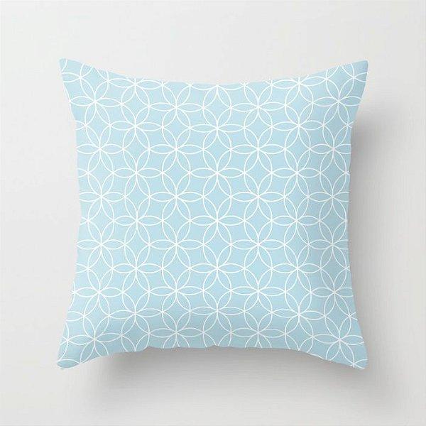 Capa de almofada Lotus Azul bebê