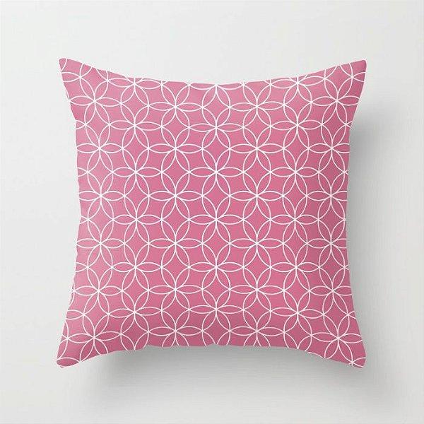 Capa de almofada Lotus Rosa chiclete