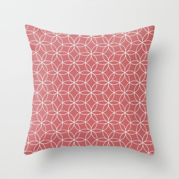 Capa de almofada Lotus Coral