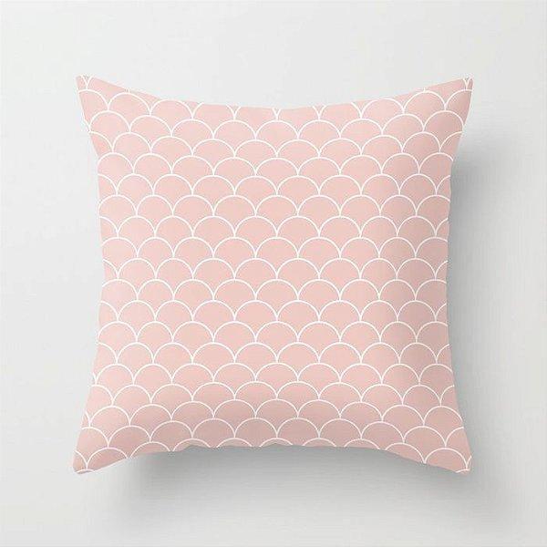 Capa de almofada Escamas Rosa Quartzo