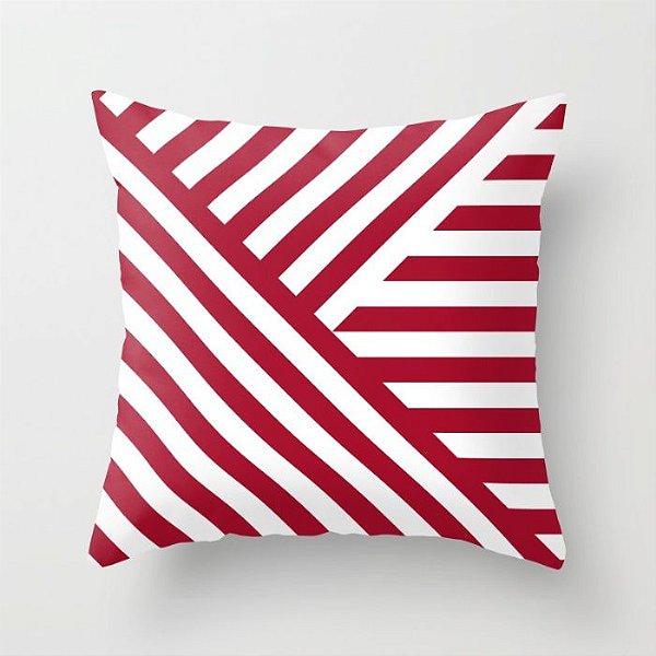 Capa de almofada Geometric Vermelho