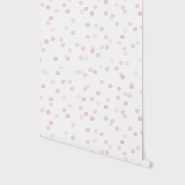 Papel de parede Confetti Rosa