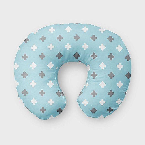 Almofada de amamentação Super Cute Azul Bebê e Cinza