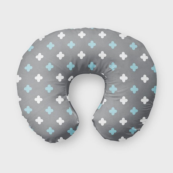 Almofada de amamentação Super Cute Cinza e Azul Bebê