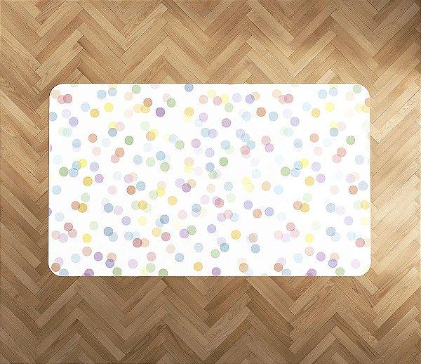 Tapete emborrachado Confetti Colorido retangular