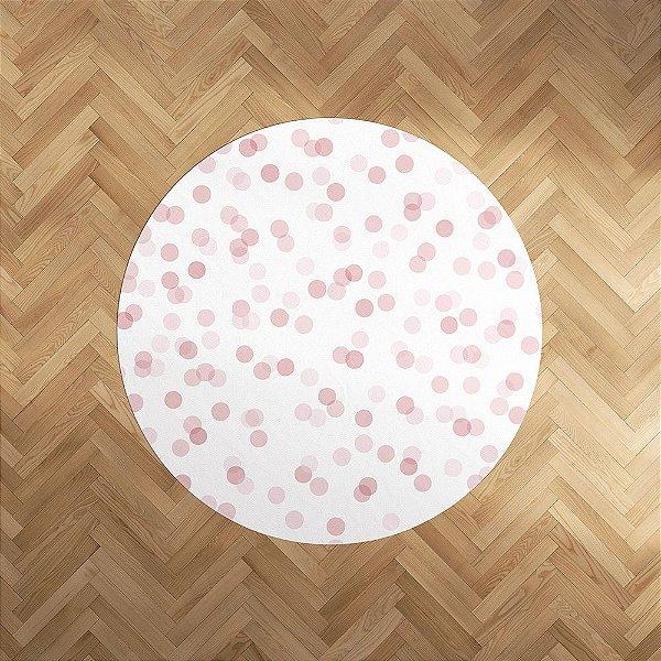 Playmat Confetti Rosa redondo