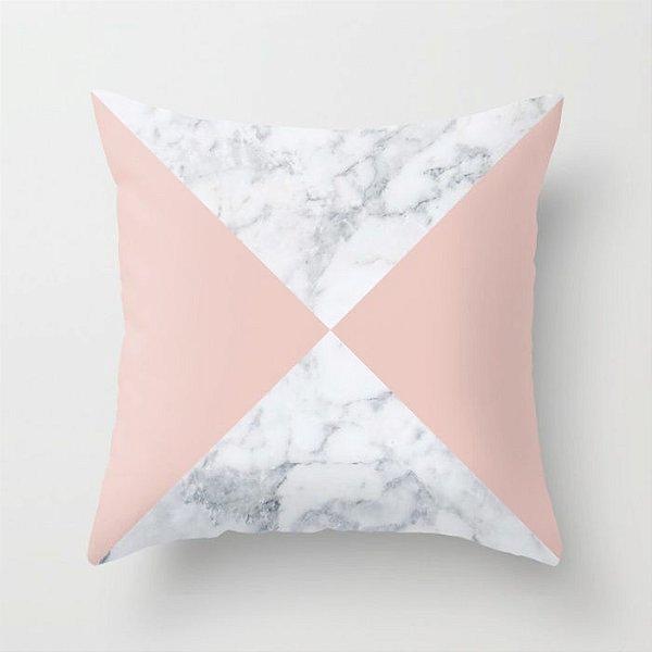 Capa de almofada Marble Rosa Quartzo