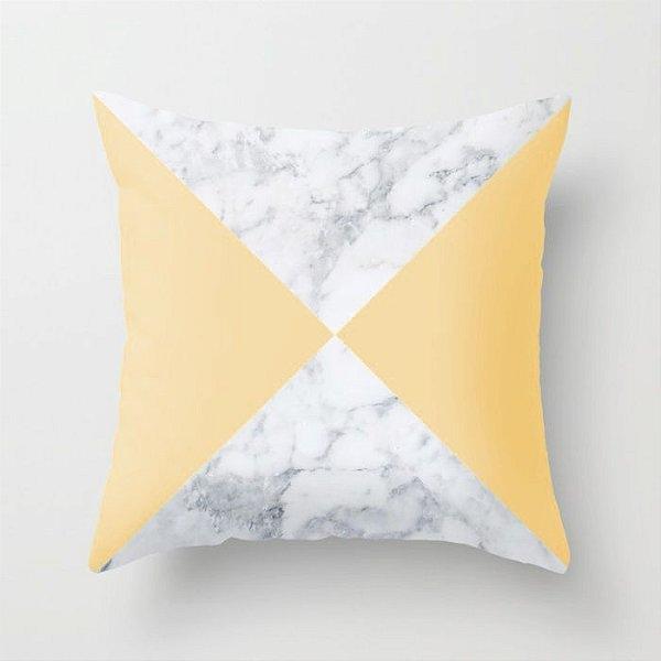 Capa de almofada Marble Amarelo Bebê