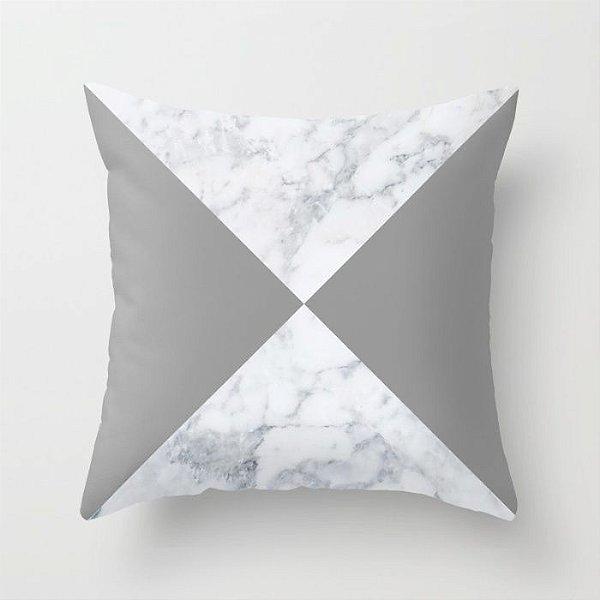 Capa de almofada Marble Cinza