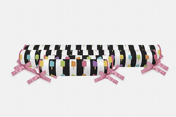 Kit rolos para cama Montessoriana Sorvetinhos coloridos (vários tamanhos)