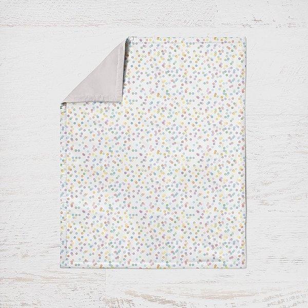 Edredom mini cama Confetti Colorido