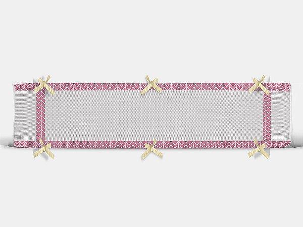 Par de laterais para berço em tela Ziggy rosa chiclete