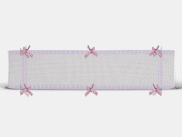 Par de laterais para berço em tela Ziggy lilás