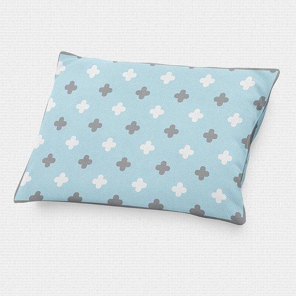 Almofada de cabeceira Super Cute Azul Bebê com Cinza