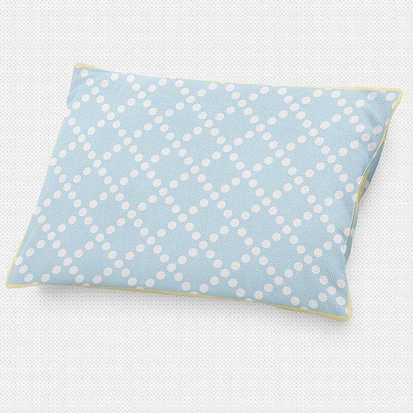 Almofada de cabeceira Pearl Azul Bebê