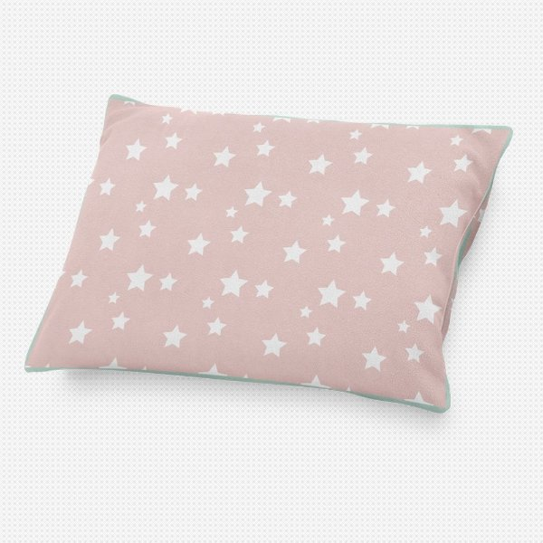 Almofada de cabeceira Rosa Quartzo com Estrelas