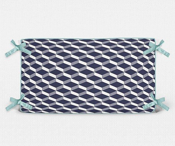 Cabeceira em espuma 3D Azul Marinho