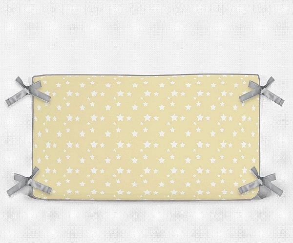 Cabeceira em espuma Amarelo bebê com Estrelas