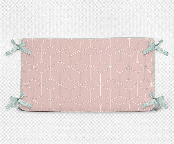 Cabeceira em espuma Cubes Rosa Quartzo