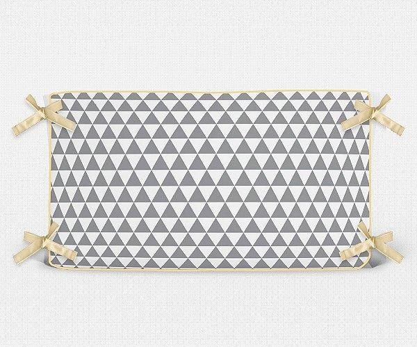 Cabeceira em espuma Triângulos Cinza