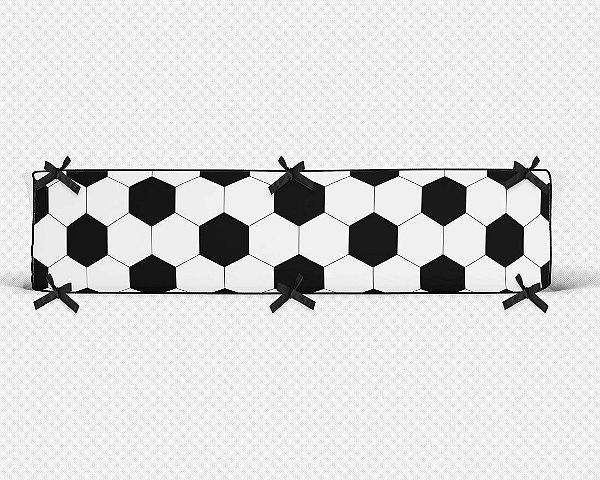 Par de laterais de berço em espuma Bola de Futebol branca