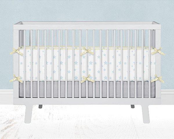 Lateral de berço em espuma Estrelas Azul bebê