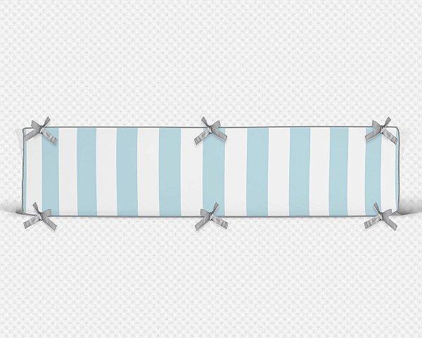 Par de laterais de berço em espuma Listras Azul bebê