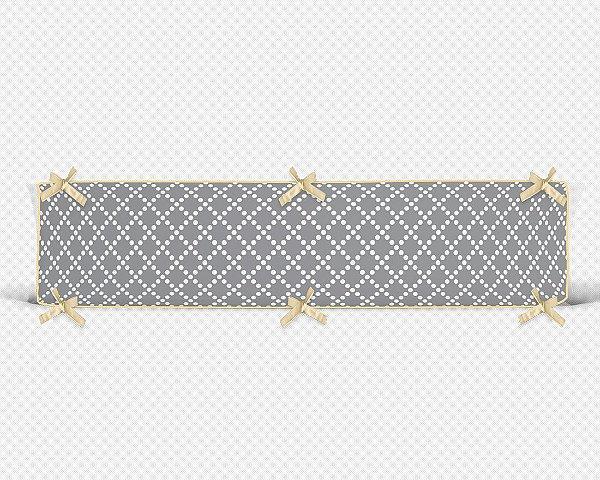 Lateral de berço em espuma Pearl Cinza