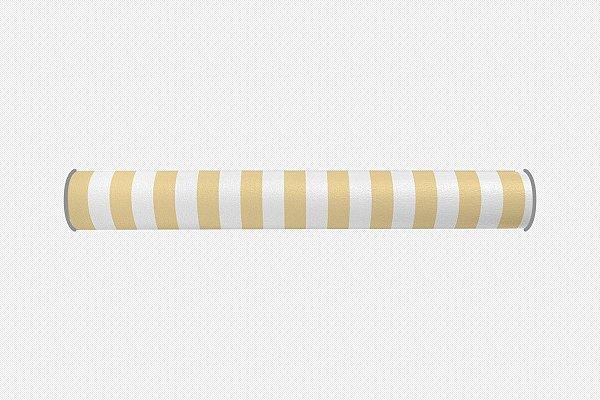 Par de rolos laterais para berço Listras Amarelo bebê