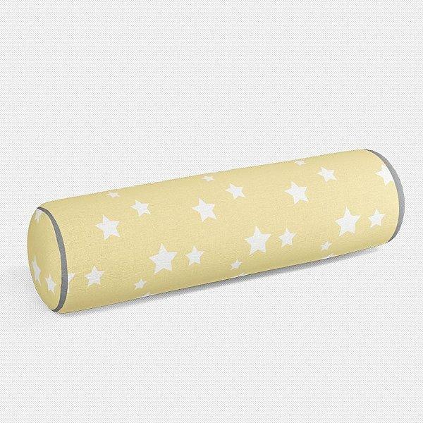 Rolo peseira Amarelo bebê com Estrelas