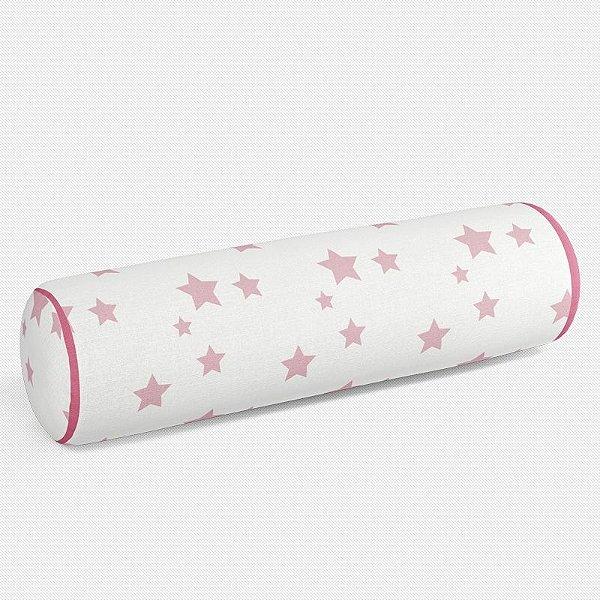 Rolo peseira Estrelas Rosa Bebê