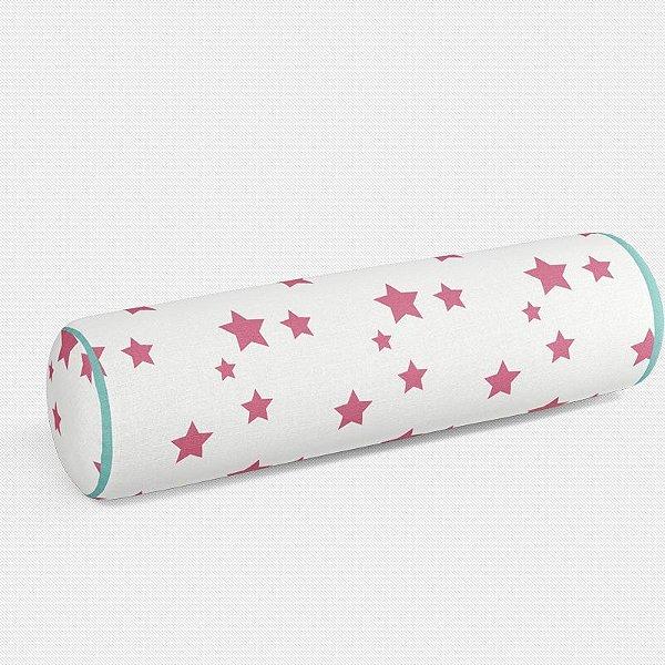 Rolo peseira Estrelas Rosa Chiclete