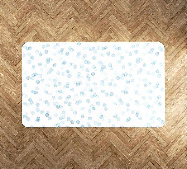Playmat Confetti Azul retangular