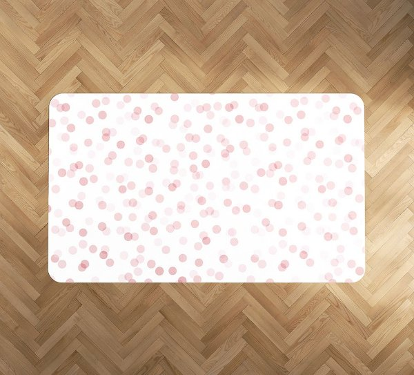 Playmat Confetti Rosa retangular